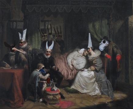 contributo a Nicolaas Pieneman 1840. Collage su carta e tecnica mista. 2016.